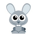 128x128px size png icon of bunny