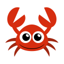 128x128px size png icon of crab