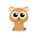 128x128px size png icon of hamster
