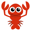 128x128px size png icon of lobster