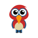 128x128px size png icon of parrot