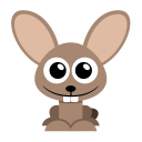 128x128px size png icon of rabbit