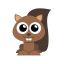 128x128px size png icon of squirrel