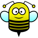 128x128px size png icon of bee