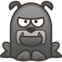 128x128px size png icon of bulldog