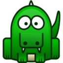 128x128px size png icon of crocodile