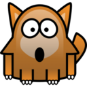 128x128px size png icon of fox
