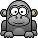128x128px size png icon of gorilla