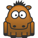 128x128px size png icon of horse