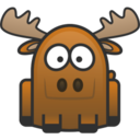 128x128px size png icon of moose