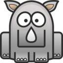 128x128px size png icon of rhino