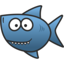 128x128px size png icon of shark