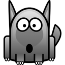 128x128px size png icon of wolf