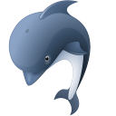 128x128px size png icon of Dolphin