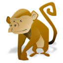 128x128px size png icon of monkey