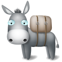 128x128px size png icon of Donkey