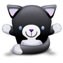 Cat Black White Icon