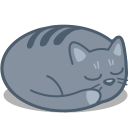 128x128px size png icon of cat sleep