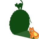 128x128px size png icon of cat shadow ball