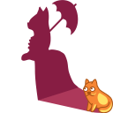 128x128px size png icon of cat shadow lady