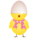 128x128px size png icon of chicken egg shell top
