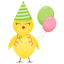 128x128px size png icon of party chicken