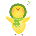 128x128px size png icon of singing chicken