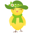 128x128px size png icon of sun hat