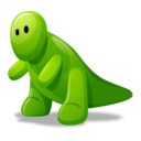 128x128px size png icon of Dino green
