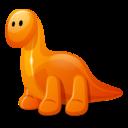 128x128px size png icon of Dino orange