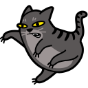 128x128px size png icon of cat fight