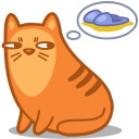 128x128px size png icon of cat slippers