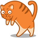 128x128px size png icon of cat walk