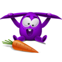 128x128px size png icon of violet rabbit