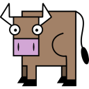 128x128px size png icon of Bull
