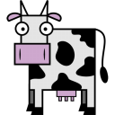 128x128px size png icon of Cow