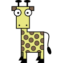 128x128px size png icon of Giraffe