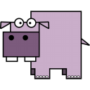 128x128px size png icon of Hippo
