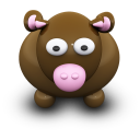 128x128px size png icon of BrownCow