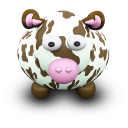 128x128px size png icon of CowBrownSpots