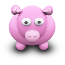 128x128px size png icon of PinkCow