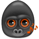 128x128px size png icon of monkeys audio
