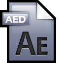 128x128px size png icon of File Adobe After Effects 01