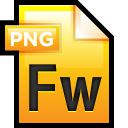 128x128px size png icon of File Adobe Fireworks 01