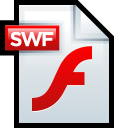 128x128px size png icon of File Adobe Flash SWF 01