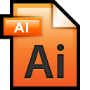 128x128px size png icon of File Adobe Illustrator 01
