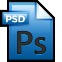 128x128px size png icon of File Adobe Photoshop 01