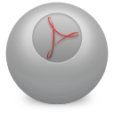 128x128px size png icon of Acrobat