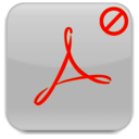 128x128px size png icon of Acrobat Uninstaller