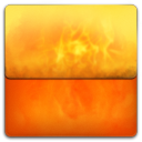 128x128px size png icon of Fire Folder